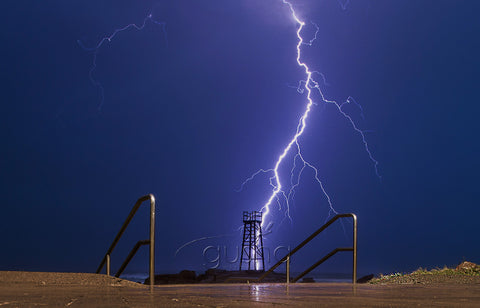 Redhead Beach lightning Photo