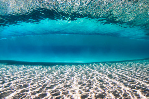 An underwater photo captured at Kirra Beach, Australia