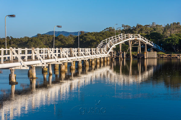 Morning reflections of Back Creek Bridge at South West Rocks