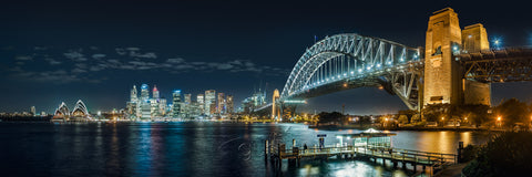 Acrylic 'Glass' Print STOCK SALE Sydney Harbour SYD3300 120x40cm
