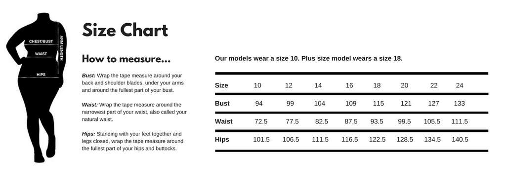 What is the hip measurement for womens size 16?