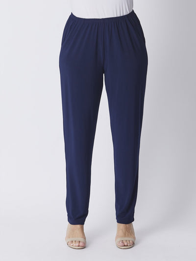 Dressy Pocket Pant Navy - Bottoms