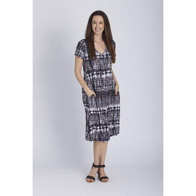 Stella Dress - Latte Print - Occasion Dresses