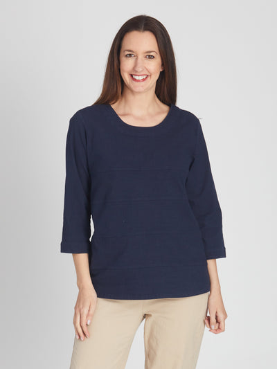 Seam Top Navy -