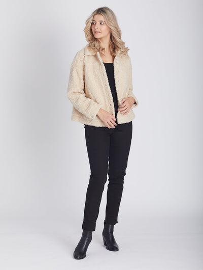 Teddy Shearling Bomber Jacket -