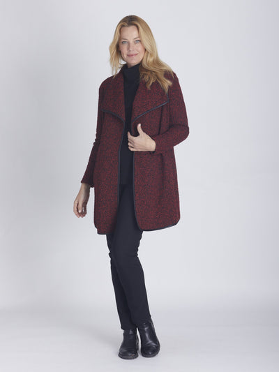 Shawl Cardy Red/Black - Jackets & Outerwear