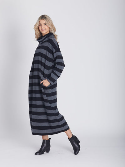 Striped Slouchy Maxi - Dresses