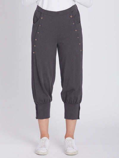 Stretch Cotton Puff Pant Storm -
