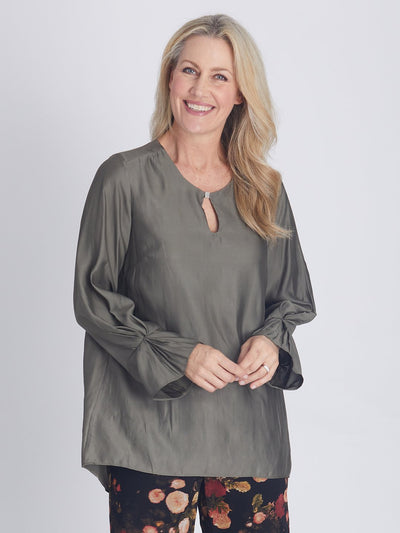 Shimmer Evening Top Khaki - OPM