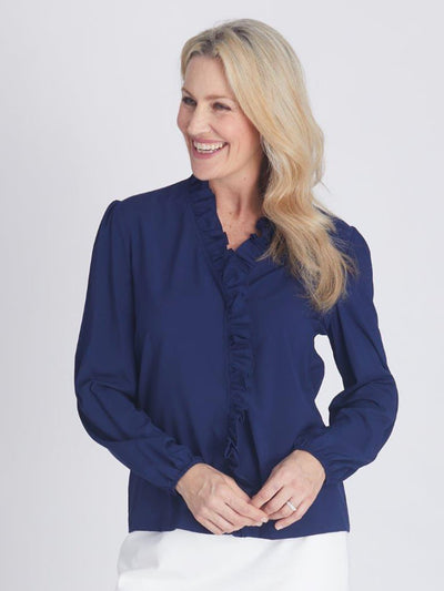 Nola Ruffle Top Navy - OPM