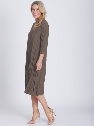 Stella Dress 3/4 Sleeve Latte - The Stella Dress Collection