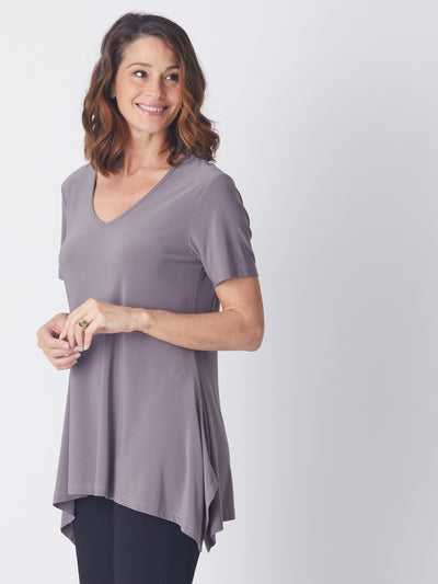 Andrea V Short sleeve Top -LATTE - Jackets & Outerwear