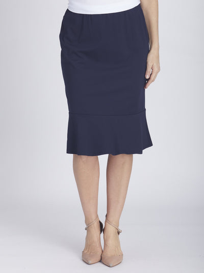 Nola Core Ruffle Skirt - Navy -