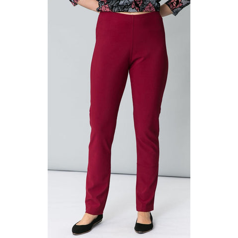 Cordelia St Pencil Pant in Wine