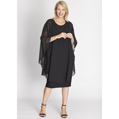 Cape Dress - Black - OPM