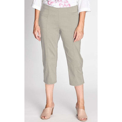 Argentina Cropped Bengaline Pant - Natural - Bottoms