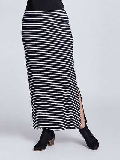 Stripe Maxi - Navy - White - Maxi Skirts