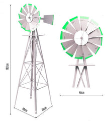 1800mm metal ornamental windmill