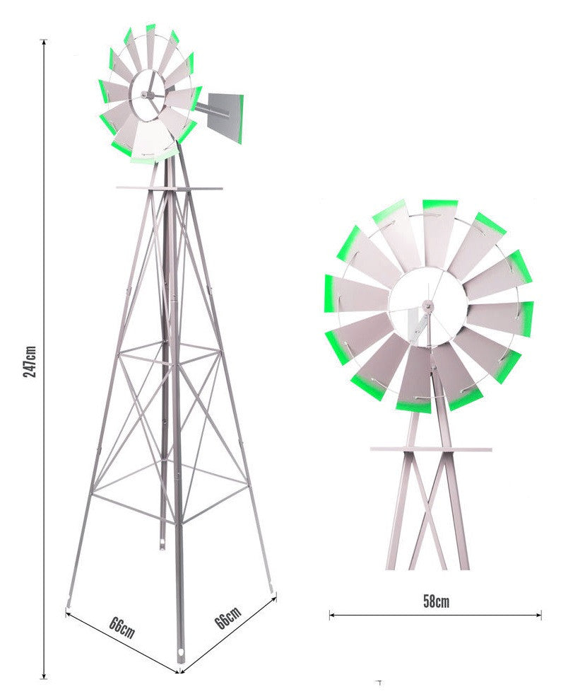 2500mm Tall Metal Ornamental Garden Windmill ...