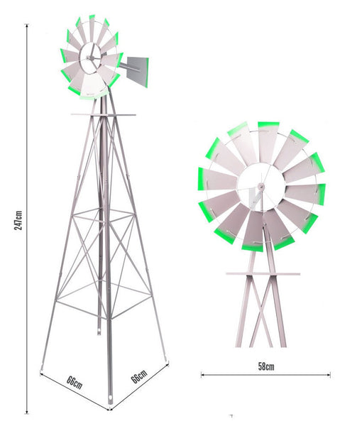 2500mm Tall Metal Ornamental Garden Windmill