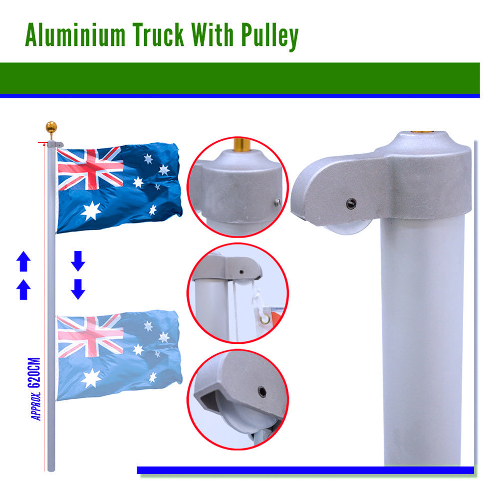 Australian Flag Pole Kit 6.2m