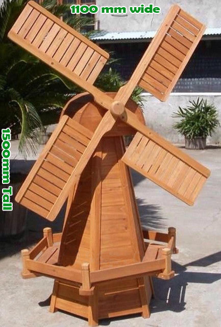 Wooden Garden Windmill 1500mm
