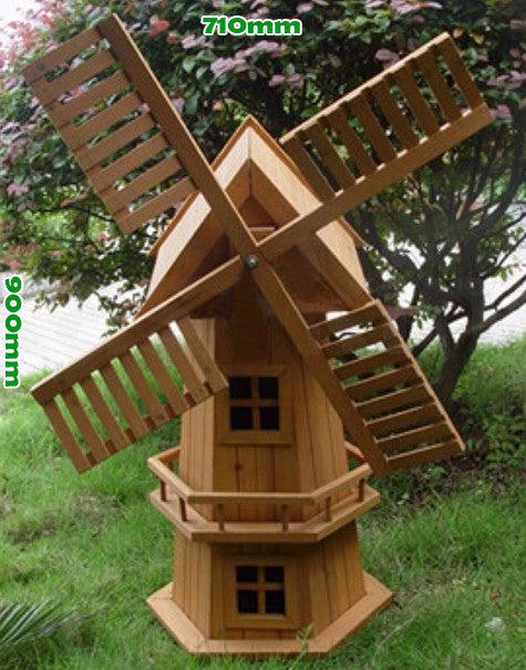 Superieur Wooden Garden Windmill 900mm ...