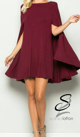 Cape Dress *multiple color options available*