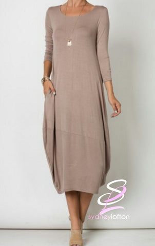 Round Neck Casual Chic Dress *multiple color options available*