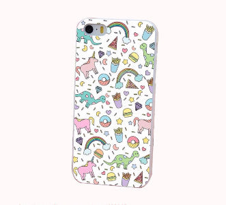 Cartoon Unicorn Rainbow Case for Iphone