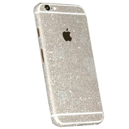 Silver Glitter Decal Full Body Stickers for iPhone