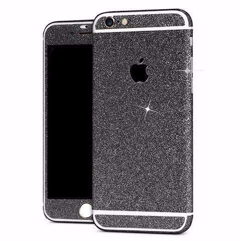Black Glitter Decal Full Stickers for iPhone 4, 5, 6, 6Plus