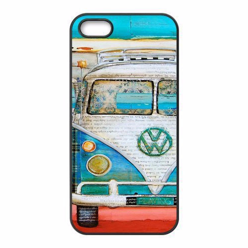 Fun Vintage VW Van Bus Case for iPhone  4 4s, 5 5s,5c,6 6s,6 Plus 6s Plus