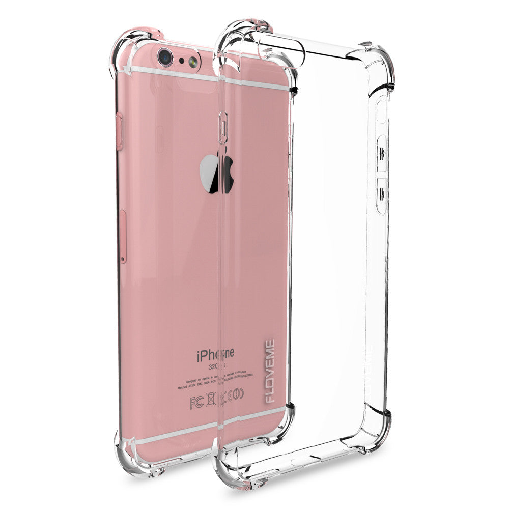 Crystal Clear Protective iPhone Bumper Case for 6 6s, 6 Plus 6s Plus