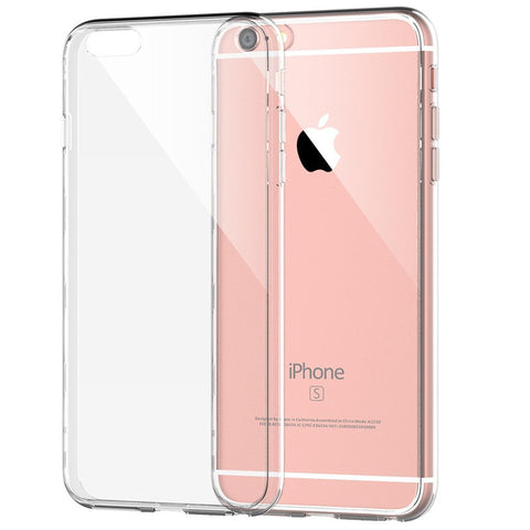 Protective Clear Soft TPU Case for iPhone