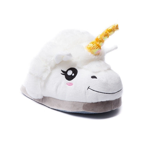 Plush Unicorn Cotton Slippers
