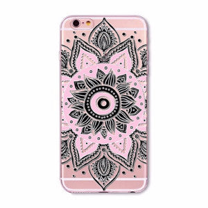 Black Mandala Boho Case for iPhone