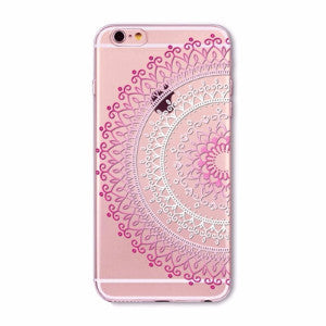 Pink Lace Mandala Boho Case for iPhone 5 5s SE 6 6s