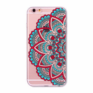 Turquoise Mandala Boho Case for iPhone 5 5s SE 6 6s