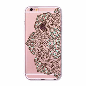 Black Lace Mandala Boho Case for iPhone 5 5s SE 6 6s