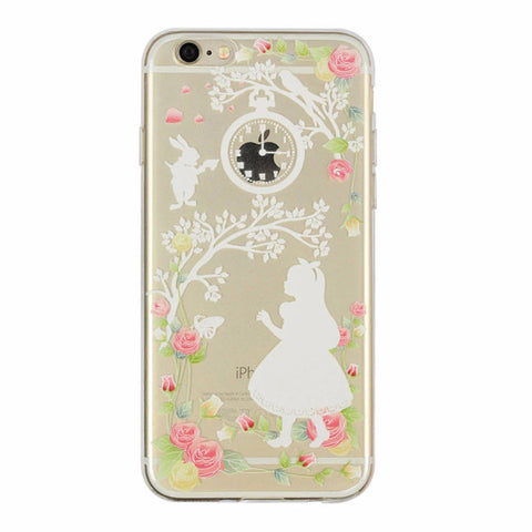Victorian Style Alice White Print Case for iPhone 5 5s 6 6S 6S Plus