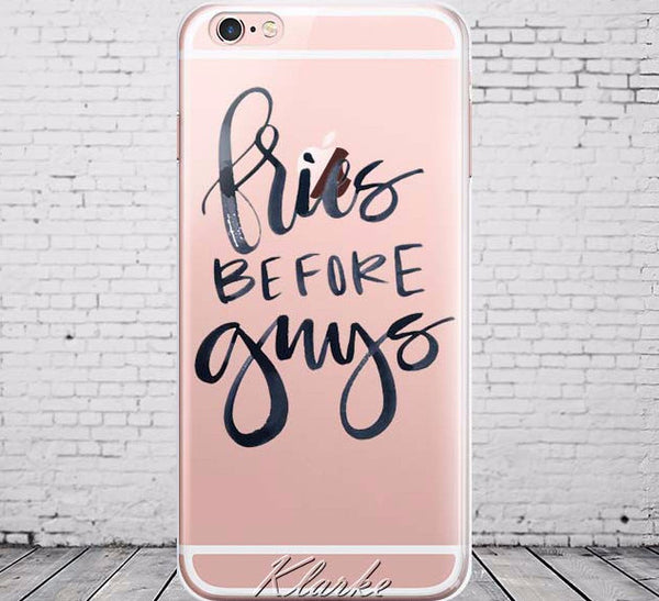 French Fries Before Guys Soft Case Fun For iPhone 6 6s