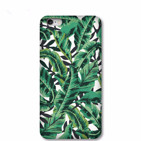 Tropical Palm Tree Banana Leaf Print Hard Case for iPhone 6  6s, 6s Plus