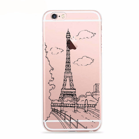 Eiffel Tower Views Soft Case for iPhone 6 Plus