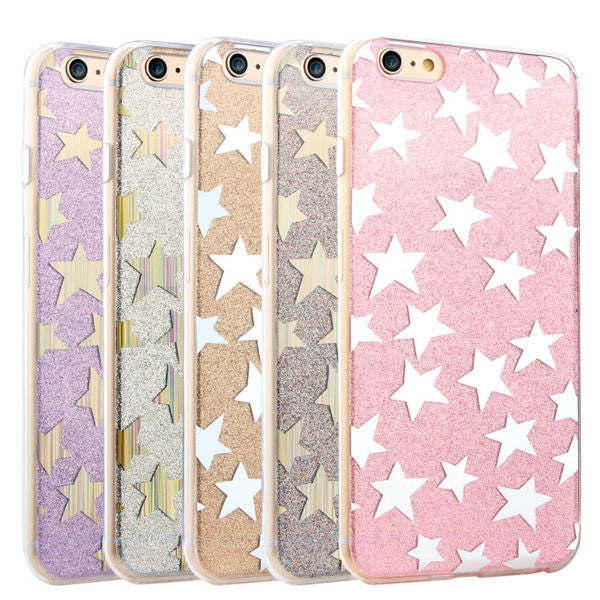 finest selection e9514 c34b8 Gold Stars and Glitter Case for iPhone 6 6S, 6S Plus