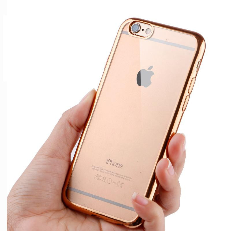 f098890f67 ... Ultra Thin Rose, Silver, Gold or Pink Crystal Clear Case For iPhone 6  6s ...