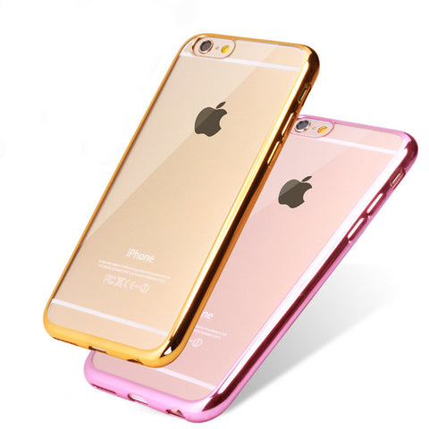 Ultra Thin Rose, Silver, Gold or Pink  Crystal Clear Case For iPhone 7, 7 Plus  6 6s Plus 5 5S SE Glam