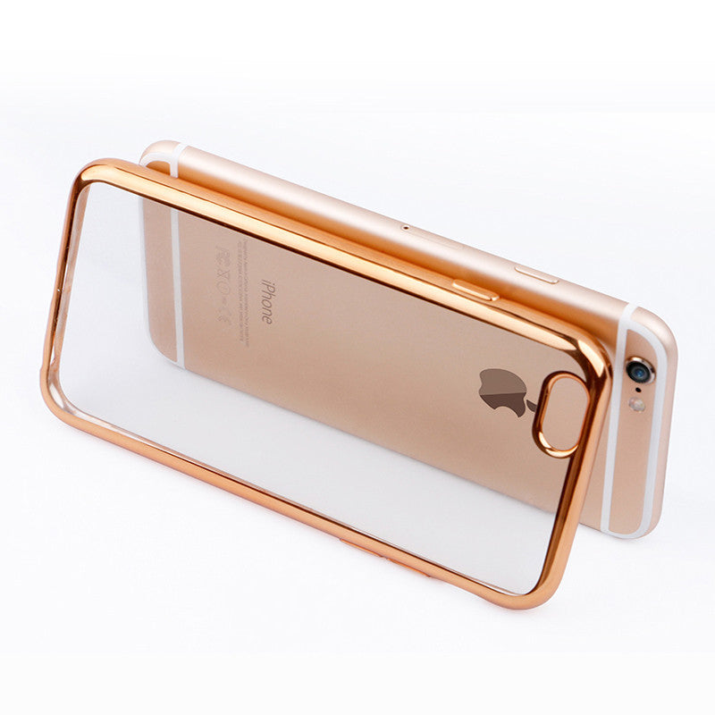 outlet store 54b7a ccb00 Ultra Thin Rose, Silver, Gold or Pink Crystal Clear Case For iPhone 7,  7Plus 6, 6s Plus 5 5S SE Glam