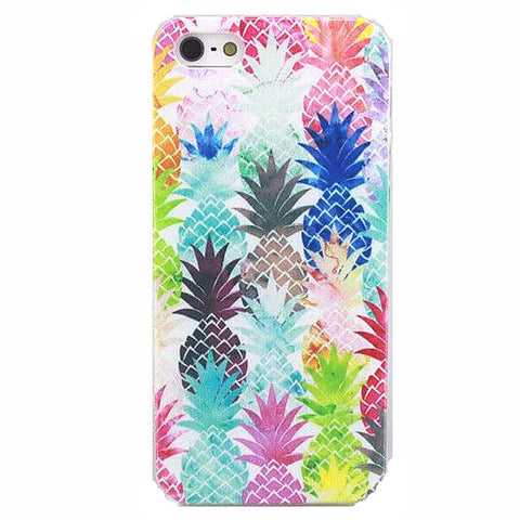 Watercolor Hawaiian Pineapple Case for iPhone 4 4S, 5 5S, 5C, 6 6S, 6 Plus 6SPlus