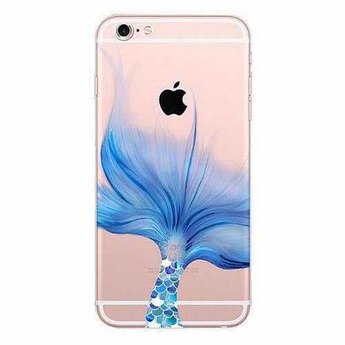 best service c8032 24907 Blue Fin Mermaid Clear Soft Case